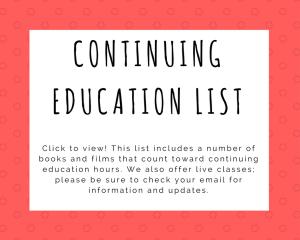 Con't Ed. Resource List
