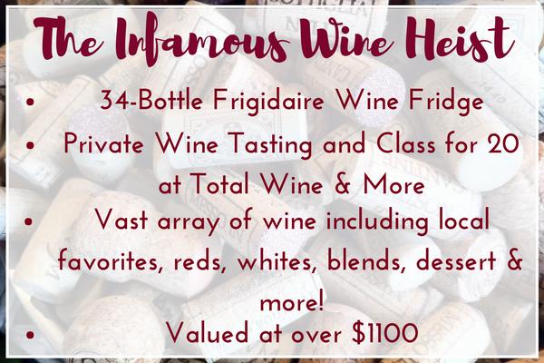 Infamous Wine Heist Raffle Package