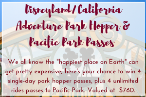 Disney & Pacific Park Raffle Package